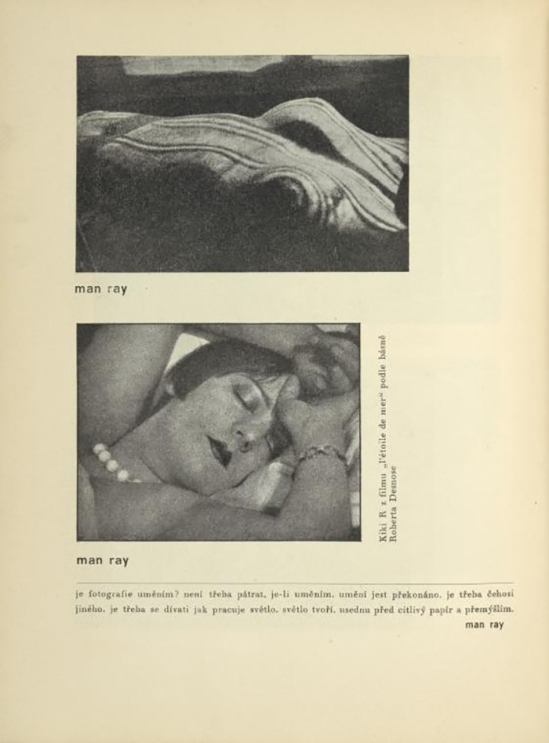 Man Rayn - Kiki & l'étoile de mer From ReD published by Karel Teige), 1928