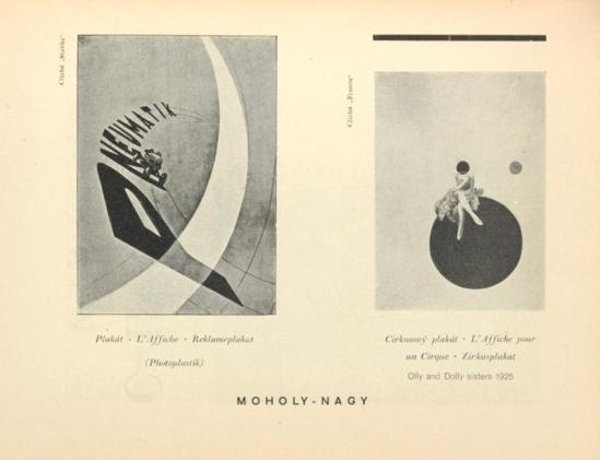 Moholy-Nagy- Plakát (L'Affiche Reklameplakat ,Photoplastik) & Olly Dolly sister, From ReD published by Karel Teige) Octobre 1927