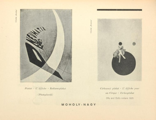 Moholy-Nagy- Plakát (L'Affiche Reklameplakat ,Photoplastik) & Olly Dolly sister, From ReD published by Karel Teige) Octobre 1927