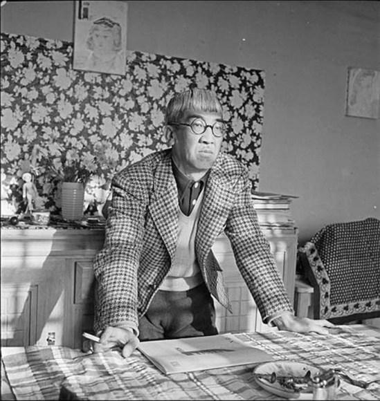Roger Parry - Portrait de Foujita chez lui , 1940