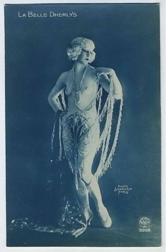 Sabourin for A Noyer Studio -French Nude La belle DHERLYS Dancer,1910s {French postcard}