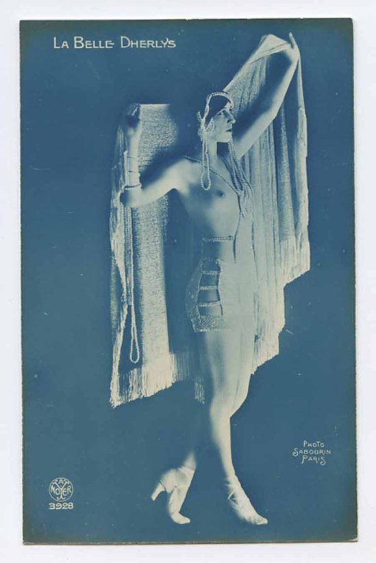 Sabourin for A Noyer Studio -French Nude La belle DHERLYS  et Harry Pilcer Dancer ,1921{French postcard}