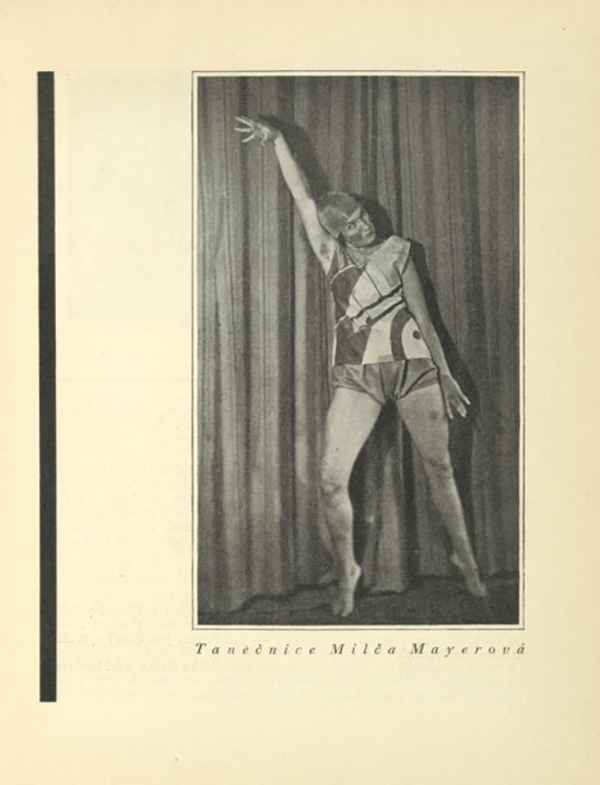 the Dancer Milca Mayerová- uncredited, published In ReD( Dirrected ans published by Karel Teige), issue # 1, 1927-28