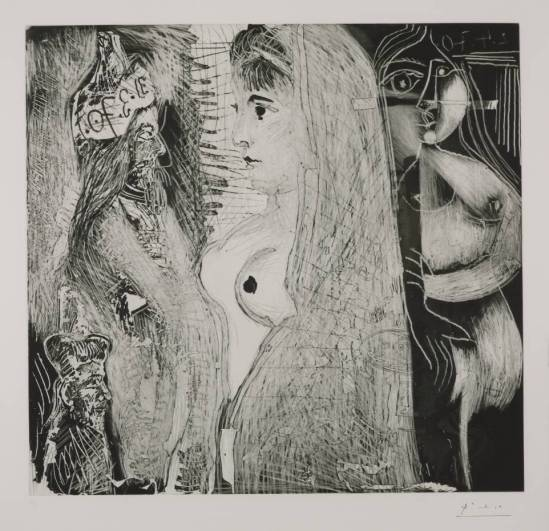 Pablo Picasso - Eau-forte, 1970