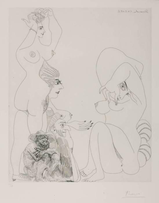 Pablo Picasso - Eau-forte,  24 Mars 1968 II