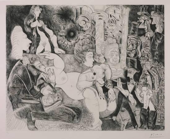 Pablo Picasso -Eau-forte 11, 28 Février 1970 3, 16, 30 Mars 1970 {Etching}