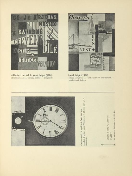 Vítězslav Nezval & Karel Teige (1924)6 Tabeau Poème, L'Embarquement pour Cythère published In ReD( Dirrected ans published by Karel Teige), issue # 2, 1928-29