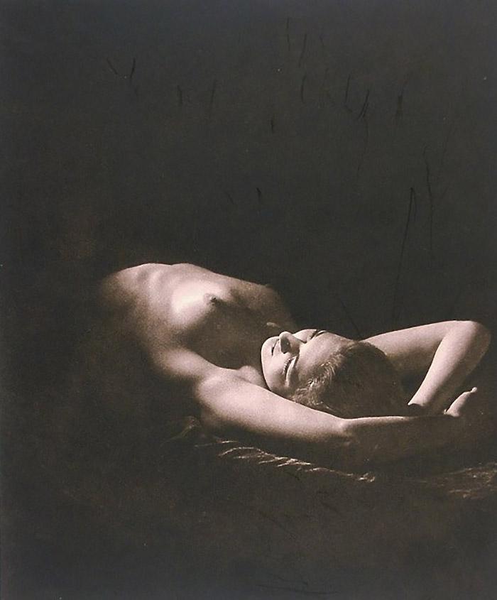 Walter Bird - Moonbeam,Vintage photoetching. 1938