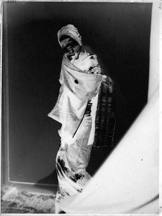 Albert Rudomine-Chinoise au masque, années 1930 , negatif (C) Albert Rudomine