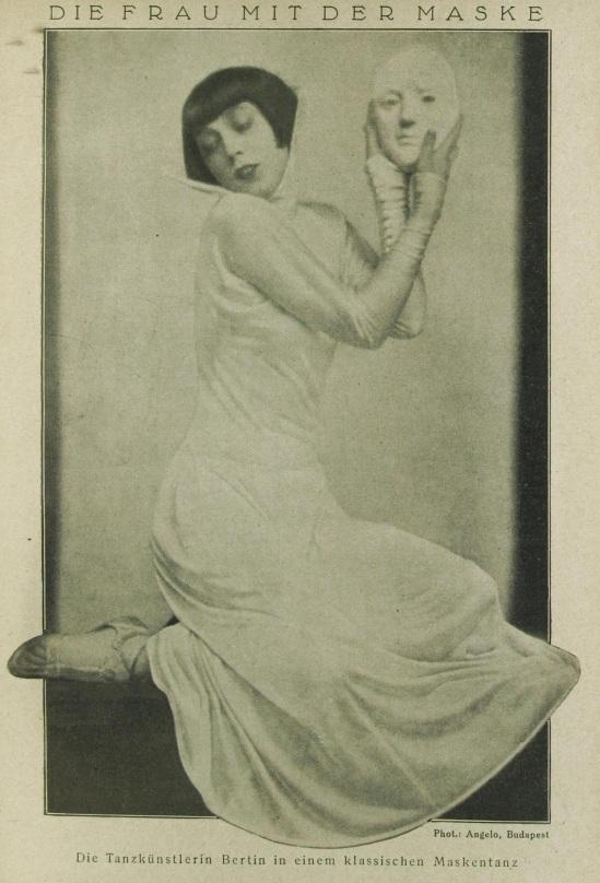 Angelo (pal funk)- Portait de la ballerine Françoise Bertin dans une danse des masques , Revue Des Monats, Mars 1927