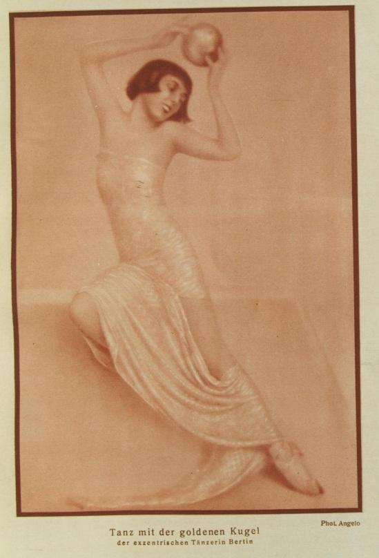 Angelo (pal funk)- Portait de la ballerine Françoise Bertin publiée dans la revue Des Monats, Janvier, 1928