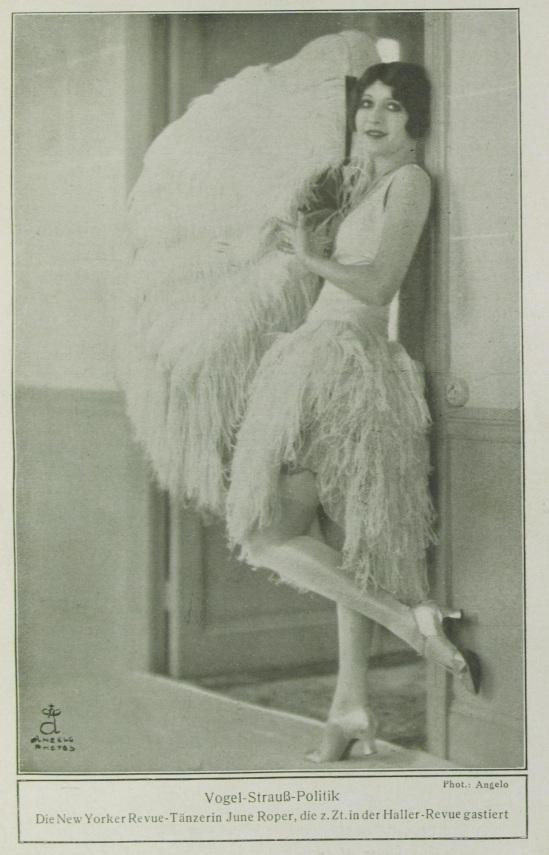 Angelo (pal funk)- Portait de la danseuse June Roper de la revue Haller publiée dans la revue Des Monats, Mars, 1928