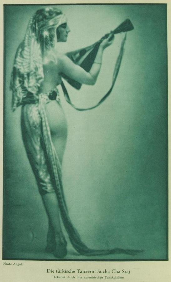 Angelo (pal funk)- Portait de la danseuse Sucha Cha Staj publiée dans la revue Des Monats, Mars, 1928