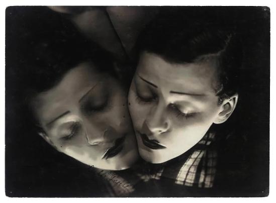 Arturo Bragaglia, Double portrait of Lulu Gould, 1929 autographié