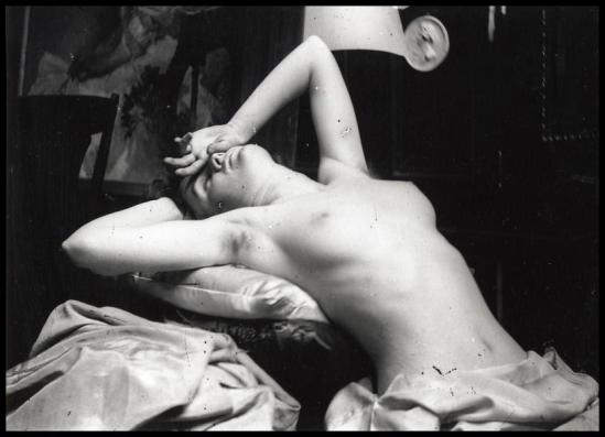 Alphonse Maria Mucha -  Model posing , 1898-89