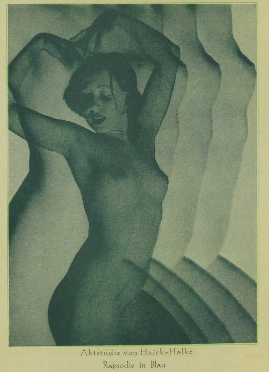 Heinz Hajek Halke-  Rapsody in blue, pulished in Das magazine, Janvier 1931