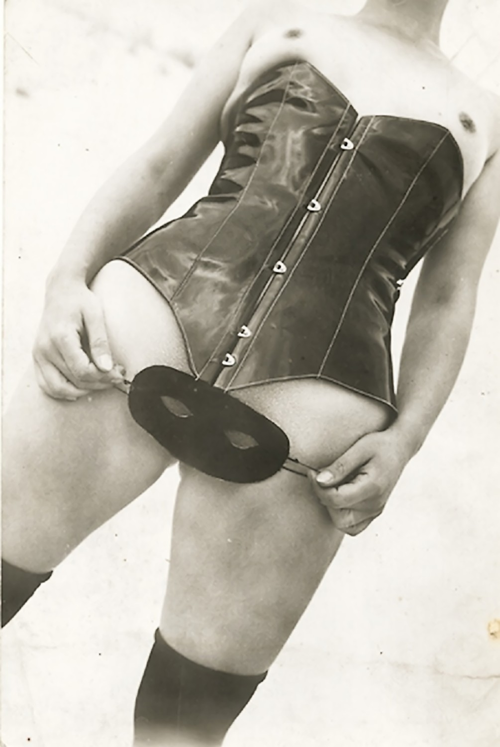 Jean Moral (attributed)- Leather Corset and Mask  ,Diana Slip Lingerie Catalogue  1933