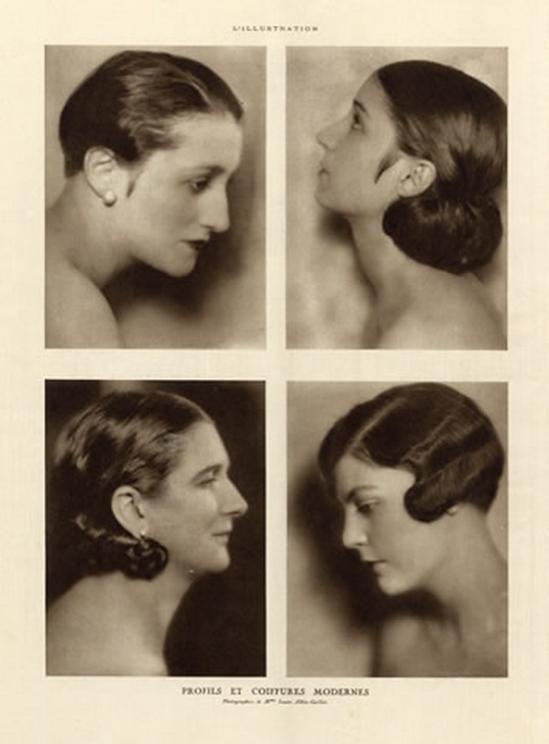 Laure Albin Guillot 1926 Profils et Coiffures Modernes, Hairstyle