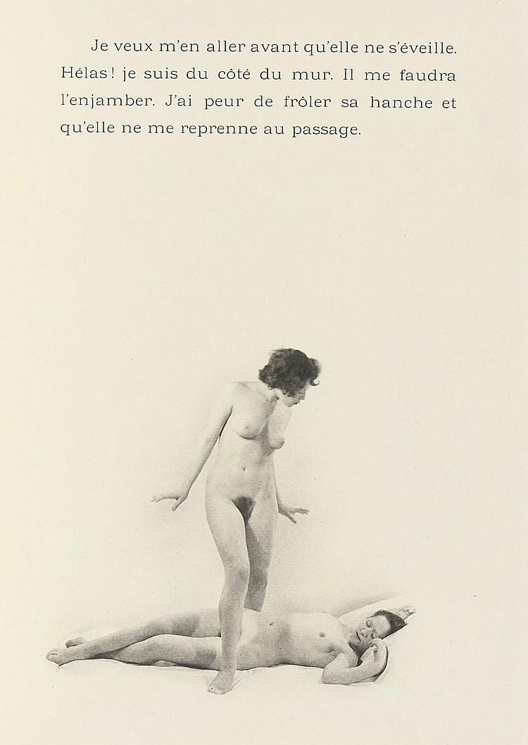 Laure Albin Guillot - Douze Chansons de Bilitis.Pierre Louÿs's erotic classic, illustrated by Albin-Guillot's delicate nudes Paris, J. Dumoulin, 1937.