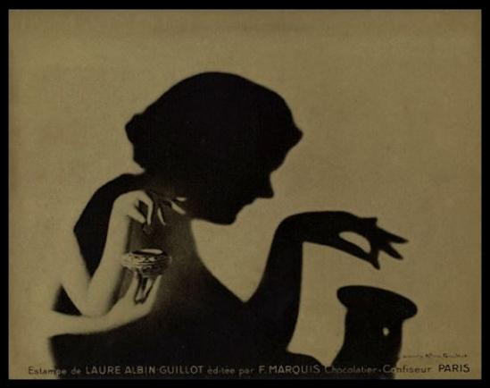 Laure Albin Guillot - Estampe pour F. Marquis chocolatier-confiseur, Paris sans date