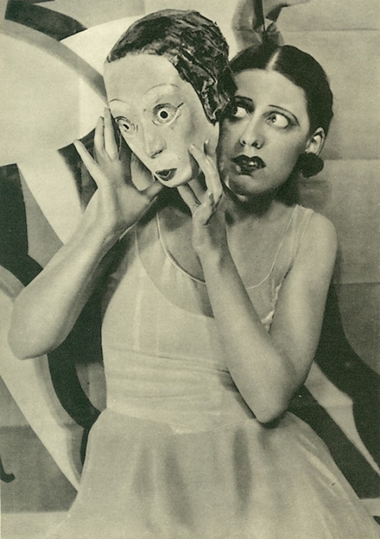 Maurice Beck & Helen Macgregor - Miss Laurie Divine In Dance , Little Lady . Mask by Oliver Messel, 1928