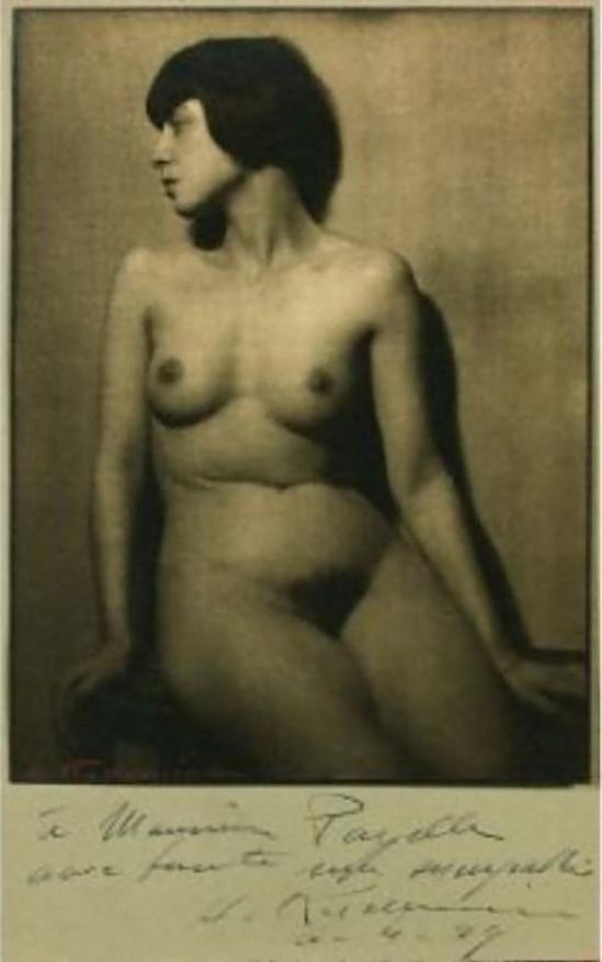 Albert Rudonime - Nu féminin assis, tête de profil, 1929 (C) Albert Rudomine