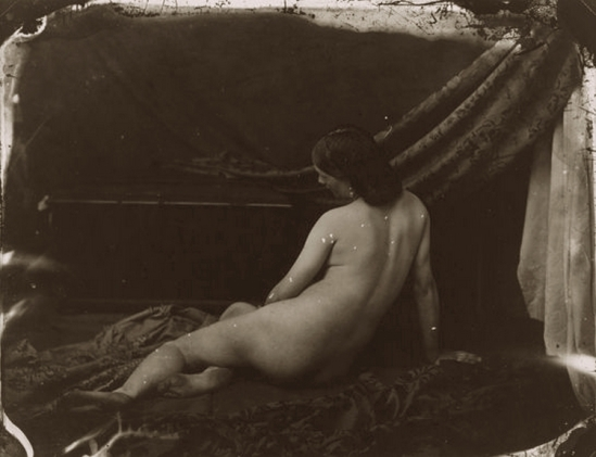 Oscar Gustave Rejlander- Reclining female nude artists' study, dorsal', 1857,