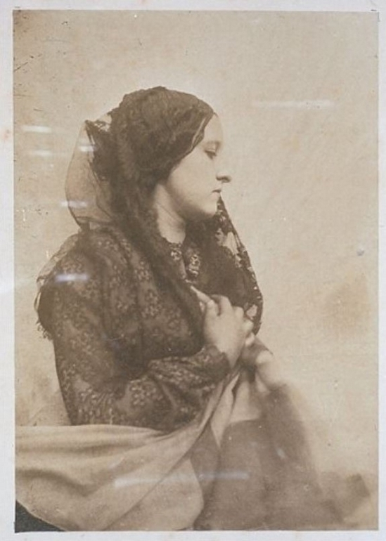 Oscar Gustave Rejlander- Woman with black lace veil 1860