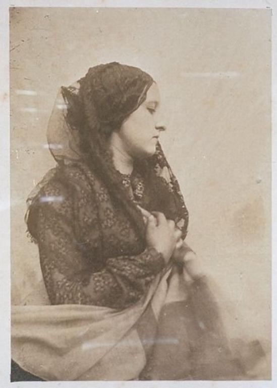Oscar Gustave Rejlander- Woman with black lace veil 1860