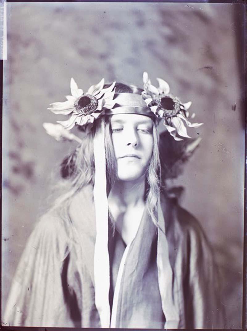 Robert Demachy- portrait de femme, plaque de verre négative au gélatino-bromure d'argent, 1905 ( positif by me)
