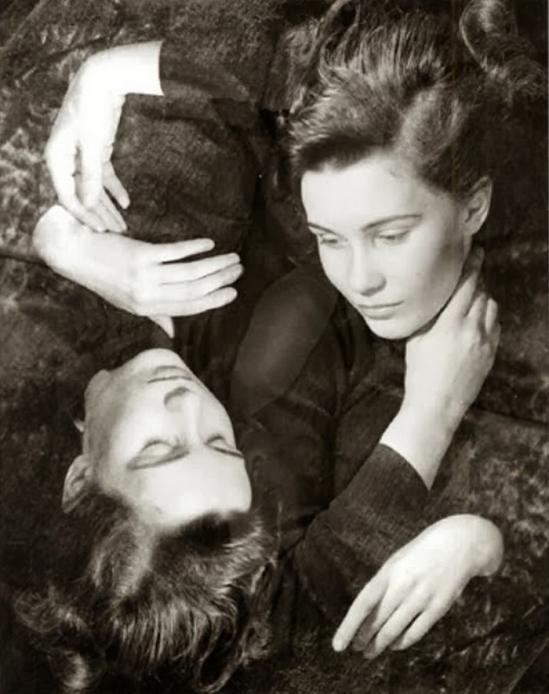 Erwin Blumenfeld - Double Portrait, (Modele Jill), 1936