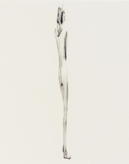 Erwin Blumenfeld -Hommage à Giacometti, 1955