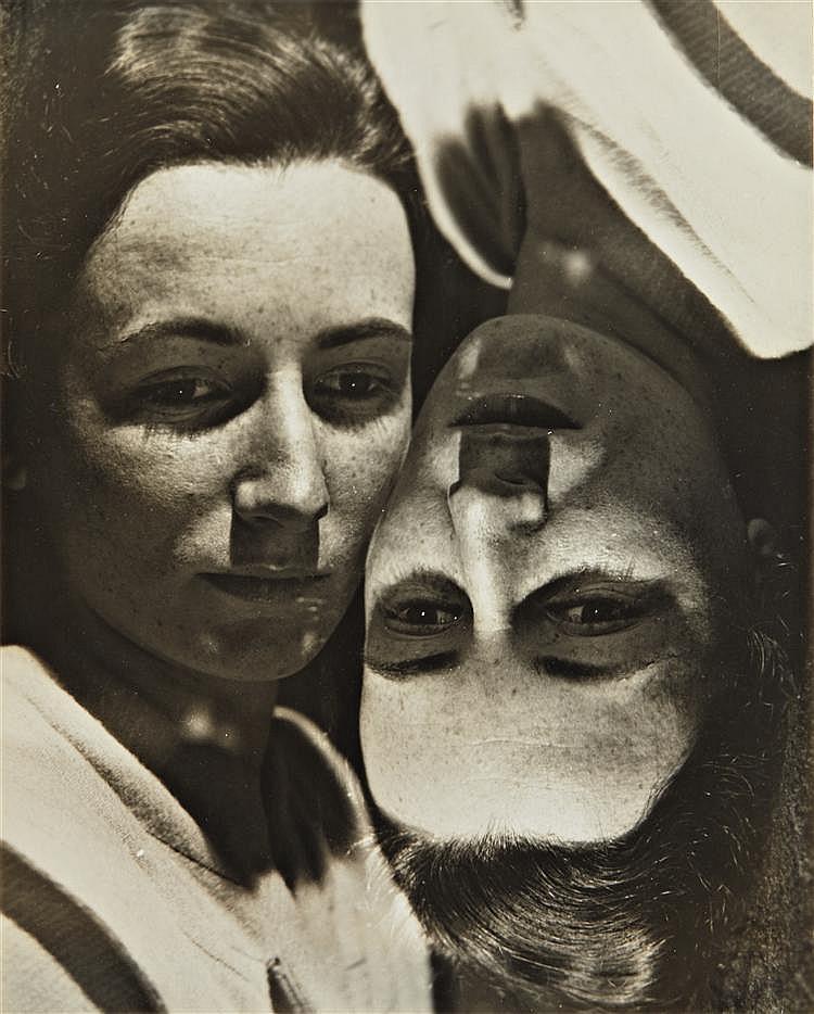 Erwin Blumenfeld Marianne Breslauer (later Feilchenfeldt), Amsterdam Annotated 'Tweelingen' (Twins)  Amsterdam, 1930
