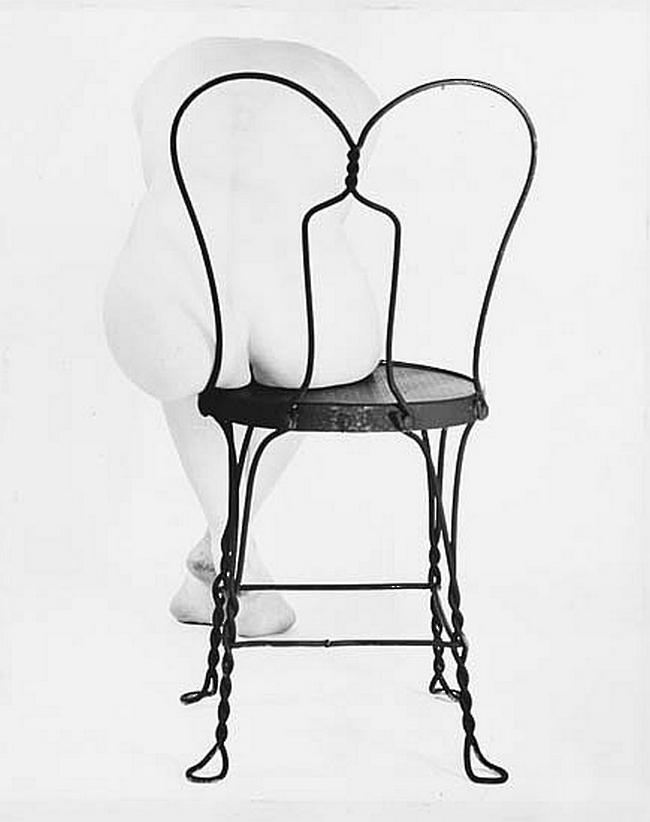 Erwin Blumenfeld-Nude on Coca Cola Chair, 1944