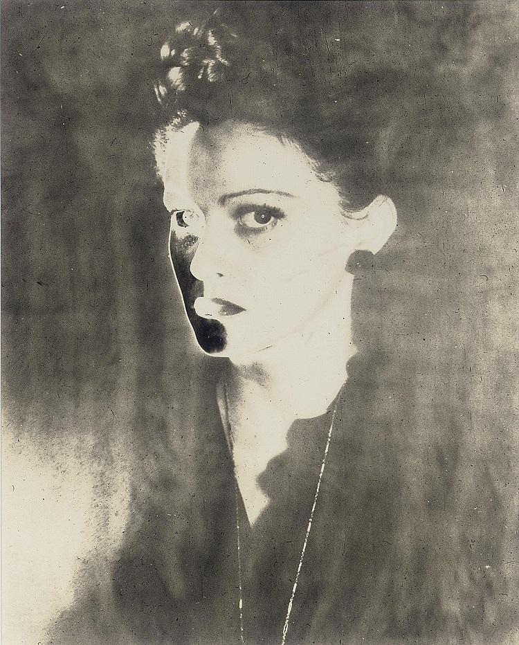 Erwin Blumenfeld -Solarized Portrait, 1940s