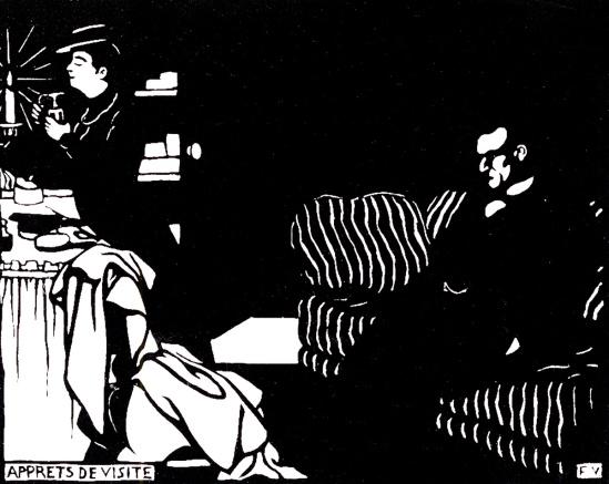 Félix Vallotton- apprets de visite series Les Intimités, 1898