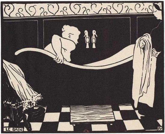 Félix Vallotton le bain series Les Intimités, 1898