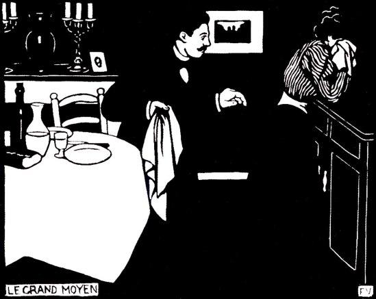 Félix Vallotton-Le grand moyen.Les Intimités, 1898