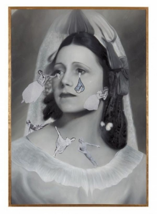 Francesco Vezzoli  Olga Forever (Olga Picasso, bal des Beaumont, 1924), 2012 Courtesy of the artist and Almine Rech Gallery
