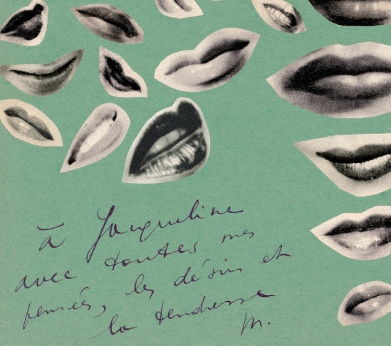 Marcel Mariën- Les touches du silence, poème sans paroles, 1937, collage, ( pour Jacqueline Nonkels his lover)
