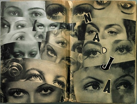 Marcel Marien -42 collages on a copy of André Breton's Nadja,1938