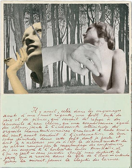 Marcel Marien - collage accompagnant une lettre à Jacqueline , 30 Janvier 1938