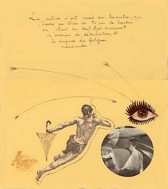 Marcel Marien - collage adressé à Jacqueline , 1938