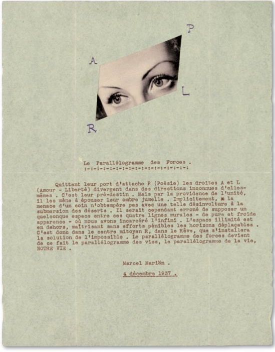 Marcel Marien - Le parallelogrammes des forces, Décembre 1937