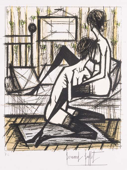 Bernard Buffet- Jeux de Dames, 1970