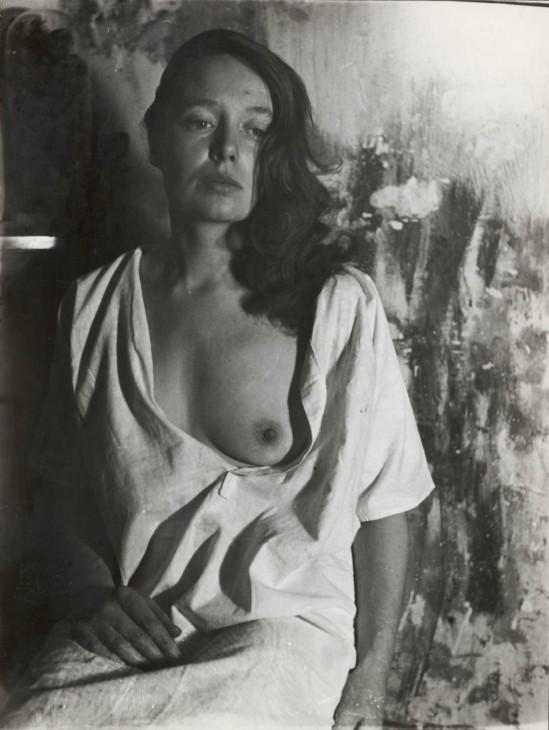 Wally Elenbaas- Femme avec la poitrine nue  1950-1954