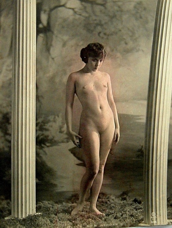 Alta Studios (San Francisco) - Olive Ann Alcorn , early 1920 in a nude art instruction book, Alta Art Studies Volume I, published by the Alta Studios,San Francisco by Alexander Xan Stark