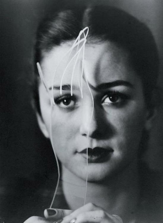 Blanc et Demilly-Femme brune (tête) vers 1945-1950