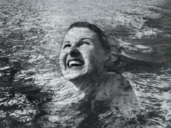 Blanc et Demilly-La nageuse, vers 1950 Photomontage