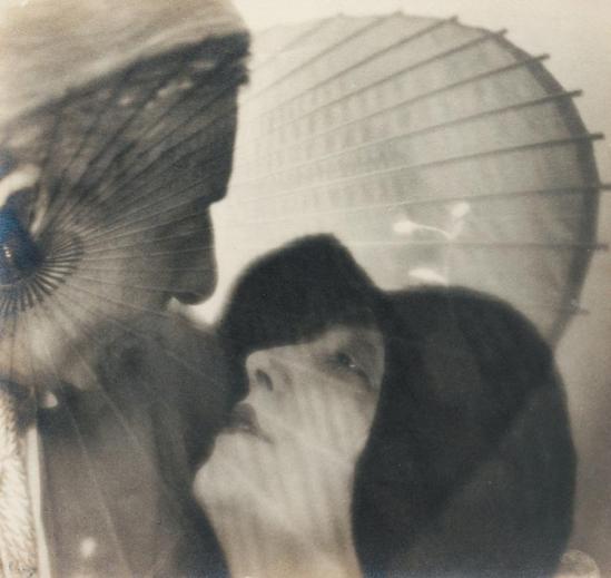 Blanc et Demilly-Portraits à l'ombrelle, vers 1933 Photomontage